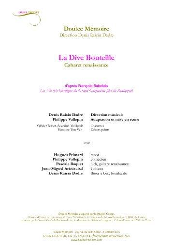 La Dive Bouteille - Château de Blois