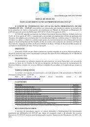 Edital e Critérios de Hierarquização Manual CEIVAP - Orçamentos ...