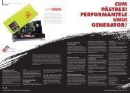 Cum păstrezi performanțele unui generator?