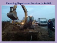 Plumbing Repairs and Services in Suffolk