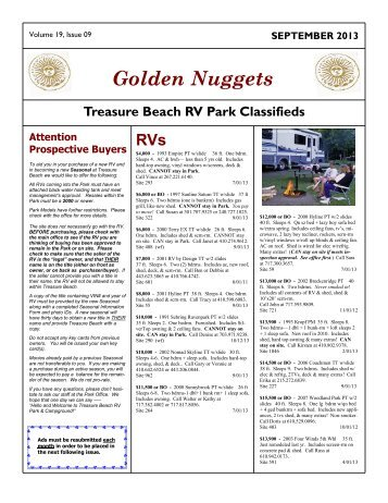 Golden Nuggets - Treasure Beach RV Park and Campground