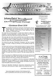 March 07 - Mansfield Woodhouse Community Website