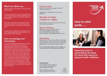 How to refer guide leaflet-for those with Long Term ... - Turning Point