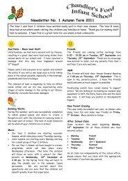 Newsletter No 1 Autumn 2011
