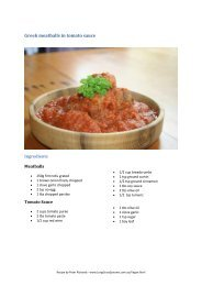 Greek meatballs in tomato sauce - Long Grass Systems