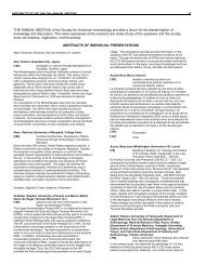 Download Individual Abstracts - Society for American Archaeology