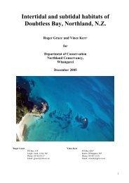 Intertidal and subtidal habitats of Doubtless Bay ... - MarineNZ.org.nz