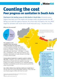 Counting the cost Poor progress on sanitation in South Asia - WaterAid