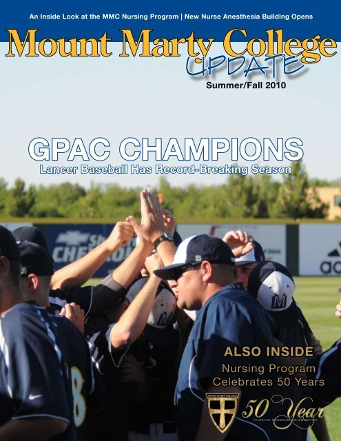 Mount Marty College >> Gpac Champions Mount Marty College