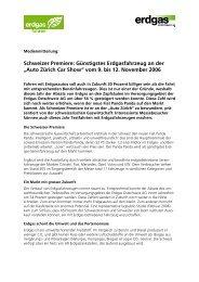 Schweizer Premiere an der Auto Zürich Car Show 06 - Erdgasfahren