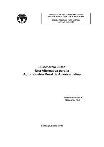 El Comercio Justo: Una Alternativa para la Agroindustria Rural de ...