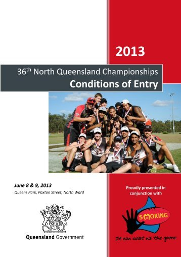 Conditions of Entry - North Queensland Touch Association