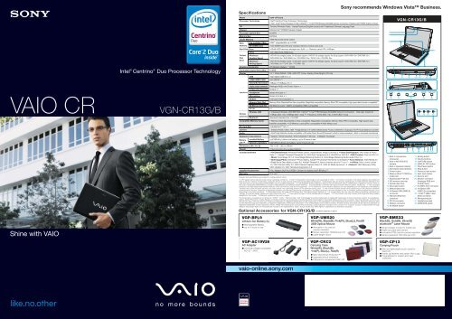 VAIO CR - Sony Style