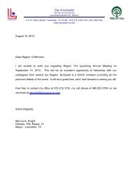 August 16, 2013 Dear Region 13 Member, I am excited to write you ...