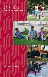 Student Handbook - J. Sargeant Reynolds Community College
