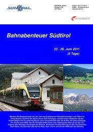 Bahnabenteuer Südtirol - SERVRail