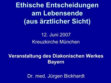Folien zum Vortrag - End-Of-Life-Care