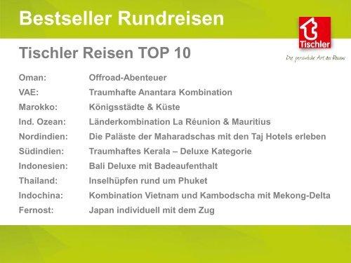 Tischler Favourites - Unsere TOP 10 Rundreisen