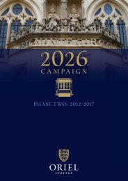 Download the 2026 campaign phase two: 2012 ... - Oriel College