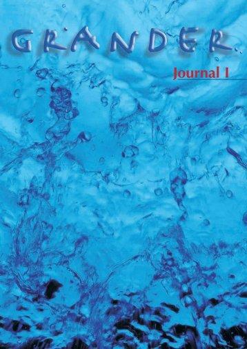 Journal 1 - Grander Revitalized Water