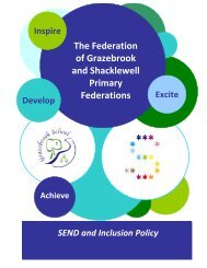 SEND and Inclusion Policy - Shacklewell Primary School