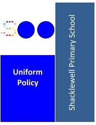 Uniform Policy - Shacklewell Primary School