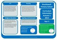 Curriculum Information Leaflet - Year 5 Autumn 1 2013