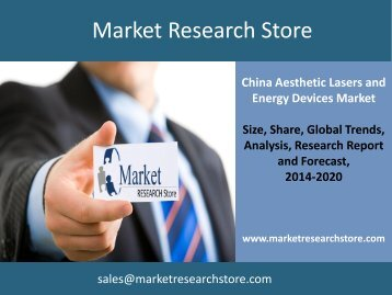 China Aesthetic Lasers and Energy Devices Market Outlook to 2020