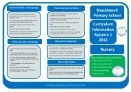 Curriculum Information Leaflet - Nursery Autumn 1 2013