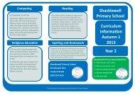 Curriculum Information Leaflet - Year 2 Autumn 1 2013