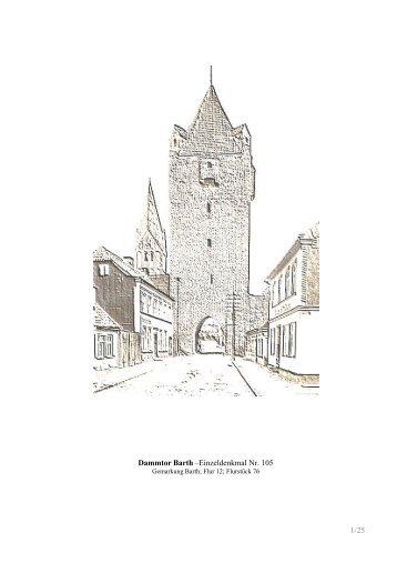 1/25 Dammtor Barth –Einzeldenkmal Nr. 105 - Selke & Petrowicz