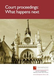 Court proceedings: What happens next - Thompsons Solicitors