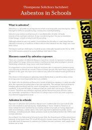 Asbestos in Schools - Thompsons Solicitors