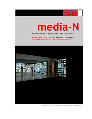 Spring 2006 | v. 02, n. 01 | Mediated Perspectives - New Media ...