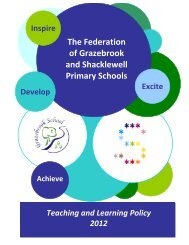 Teaching and Learning Policy - Shacklewell Primary School