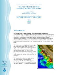 superintendent's report - Gulf of the Farallones National Marine ...
