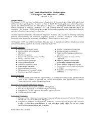1 Polk County Sheriff's Office Job Description 2727 Sergeant-Law ...