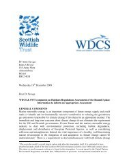 Comments with WDCS on Habitats Regulations Assessment of ...