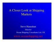 A Closer Look at Shipping Markets