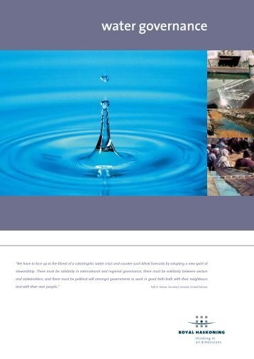 water governance - Royal Haskoning Maritime