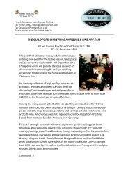 the guildford christmas antiques & fine art fair - AntiquesPR