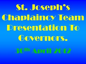 Governors Presentations