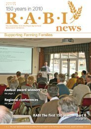 Annual award winners Regional conferences RABI The first 150 years