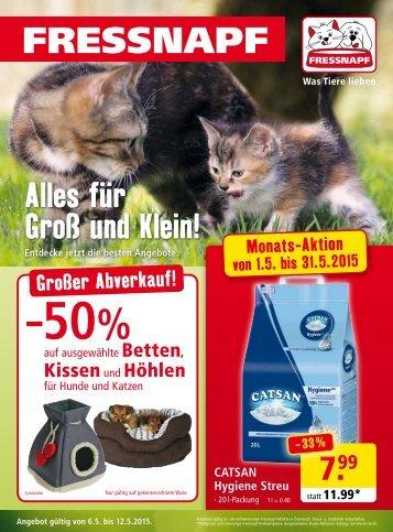 Fressnapf Österreich Flugblatt Mai 2015