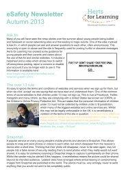 eSafety Newsletter Autumn 2013