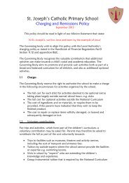 Charging Policy - St. Joseph's Catholic Primary School