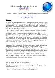 Internet Policy 2012 - St. Joseph's Catholic Primary School