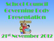 School Council Governing body presentatio