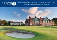 Course Upgrades at Royal Lytham and St. Annes for the 2012 Open ...