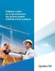 Politique-cadre sur la gouvernance des grands projets d ...